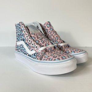 Vans Sk8-Hi Zip 2-Tone Leopard Chalk Pink Sneakers